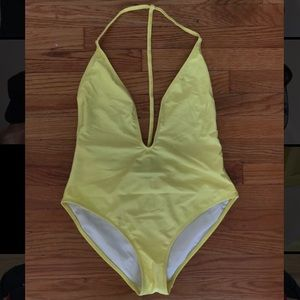Yellow Missguided One piece Swimsuit